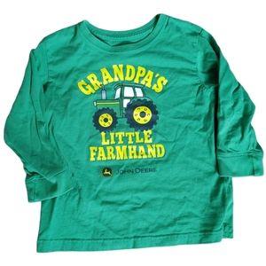 Grandpas Little Farmhand John Deere Tee 4T
